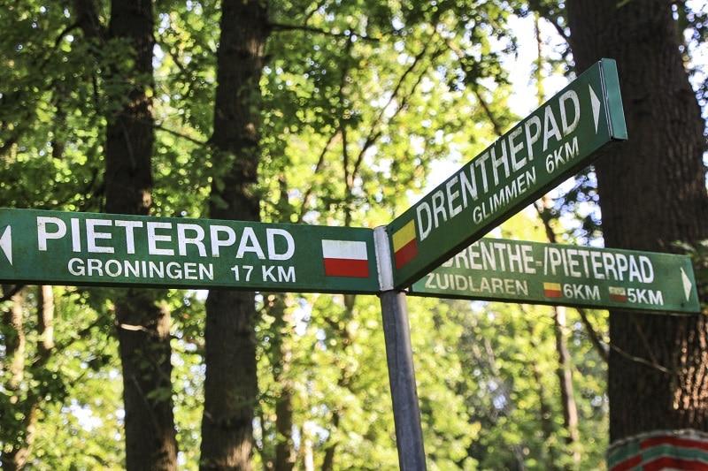 Etappe Groningen-Zuidlaren van het Pieterpad